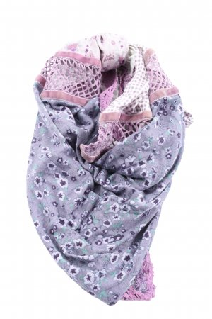 edc Schultertuch lila-pink Blumenmuster Casual-Look