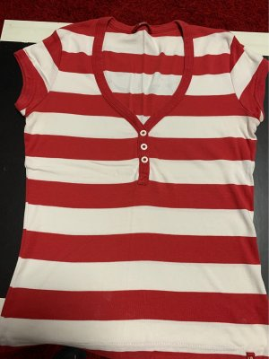 edc by Esprit Stripe Shirt dark red-white
