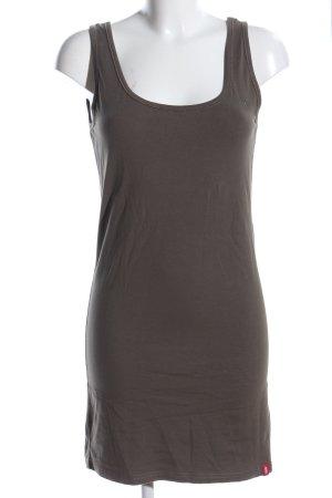 edc Vestido estilo camisa marrón look casual