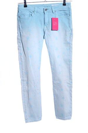 edc Skinny Jeans blau Farbverlauf Casual-Look