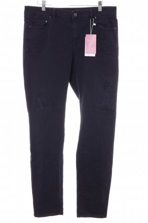 edc Slim Jeans dunkelblau Webmuster Casual-Look