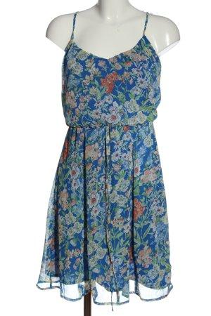 edc Sommerkleid blau Allover-Druck Casual-Look