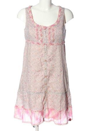 edc Sommerkleid creme-pink Allover-Druck Casual-Look