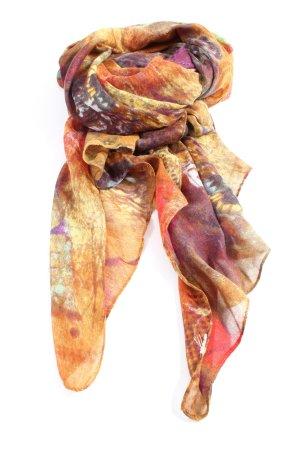 edc Écharpe d'été orange clair-brun motif abstrait style décontracté