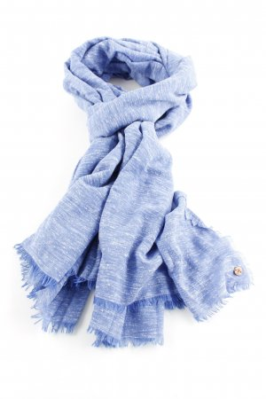edc Sommerschal blau-weiß meliert Casual-Look