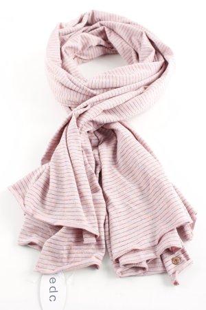 edc Sommerschal pink-blau Streifenmuster Casual-Look