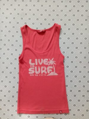 edc by Esprit Tank Top bright red cotton