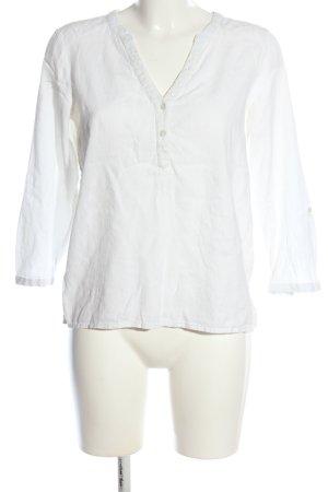 edc Kanten blouse wit zakelijke stijl