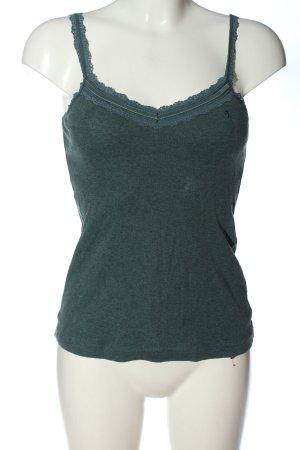 edc Koronkowy top zielony W stylu casual