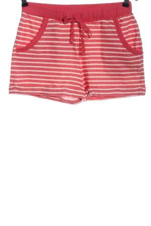 edc Pantalón corto deportivo rojo-blanco estampado a rayas look casual