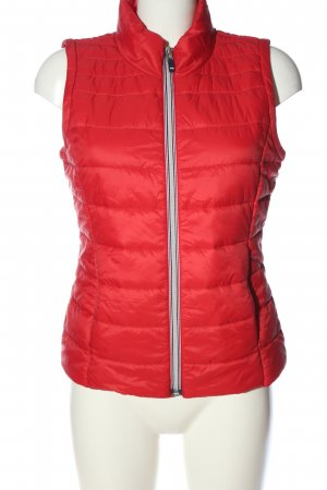 edc Steppweste rot Steppmuster Casual-Look