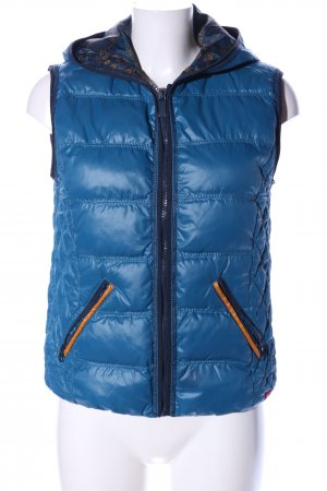 edc Quilted Gilet blue quilting pattern casual look