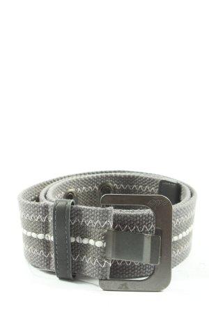 edc Cinturón de tela gris claro-blanco estampado gráfico look casual