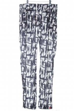 edc Stoffhose schwarz-weiß abstraktes Muster Casual-Look