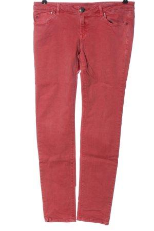 edc Jeansy z prostymi nogawkami czerwony W stylu casual