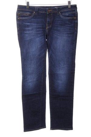 edc Jeansy z prostymi nogawkami niebieski Elegancki