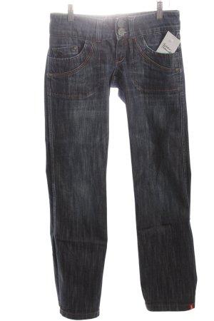 Edc Esprit Straight-Leg Jeans dunkelblau Casual-Look