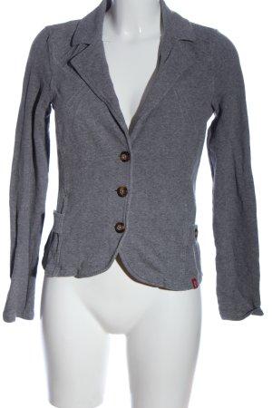 edc Knitted Blazer light grey flecked casual look