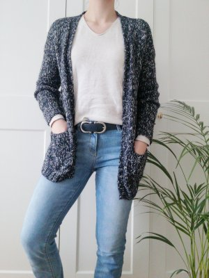 edc Veste tricotée en grosses mailles multicolore coton