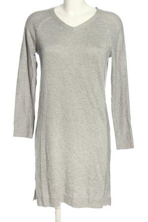 edc Gebreide jurk lichtgrijs gestippeld casual uitstraling