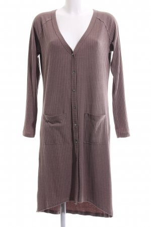 edc Knitted Coat brown striped pattern business style