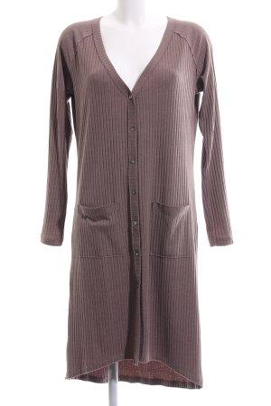 edc Manteau en tricot brun motif rayé style d'affaires