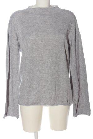 edc Sweter z dzianiny jasnoszary Melanżowy W stylu casual