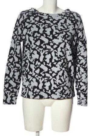 edc Strickpullover türkis-schwarz abstraktes Muster Elegant