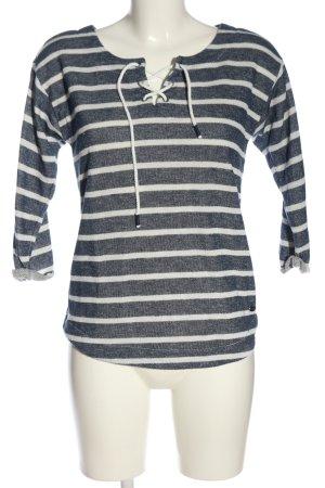 edc Strickpullover schwarz-weiß Streifenmuster Casual-Look