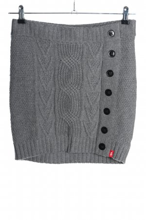 edc Knitted Skirt light grey casual look
