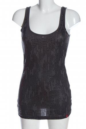 edc Knitted Top light grey-silver-colored glittery