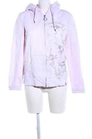 edc Sweatjacke pink Blumenmuster Casual-Look