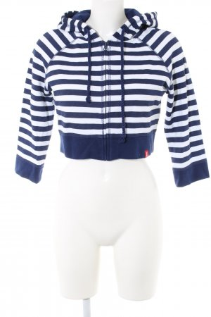 edc Sweat Jacket blue-white striped pattern casual look