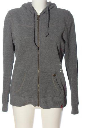 edc Sweat Jacket light grey flecked casual look