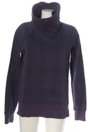 edc Sweatshirt lila-schwarz Allover-Druck Casual-Look