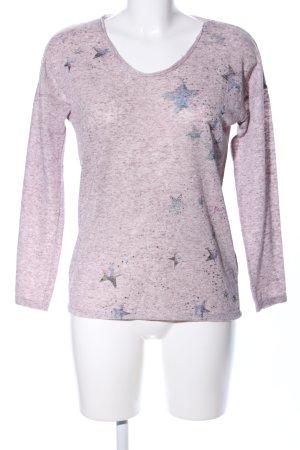edc Sweatshirt rose moucheté style décontracté