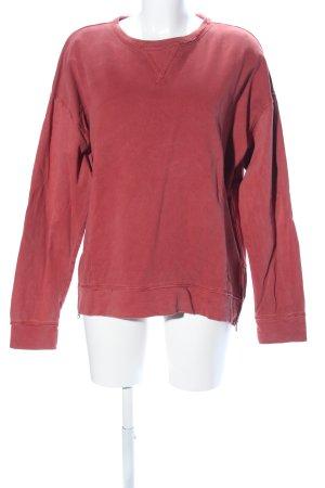 edc Sweatshirt rood casual uitstraling