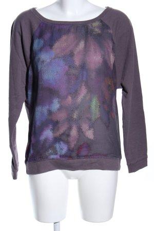 edc Sweatshirt abstraktes Muster Casual-Look
