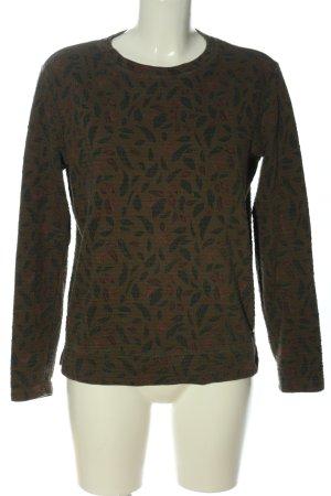 edc Sweatshirt Allover-Druck Casual-Look