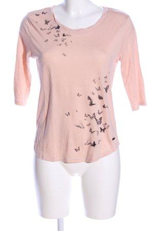 edc T-Shirt nude Motivdruck Casual-Look