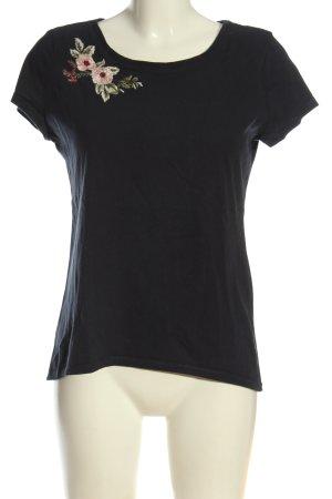 edc T-Shirt Blumenmuster Casual-Look
