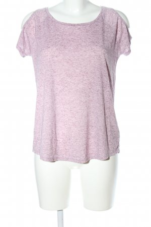 edc T-Shirt pink-wollweiß meliert Casual-Look