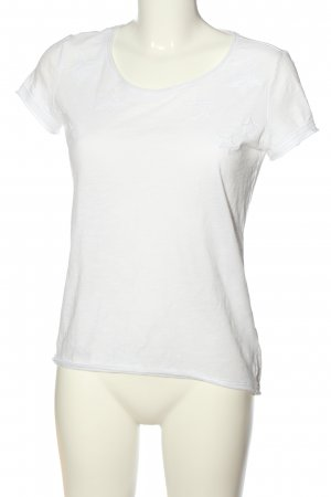 edc T-Shirt weiß abstraktes Muster Casual-Look