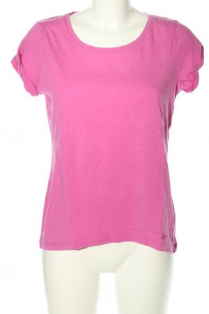 edc T-Shirt pink meliert Casual-Look