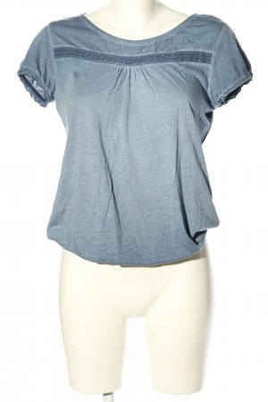 edc T-Shirt blau meliert Casual-Look