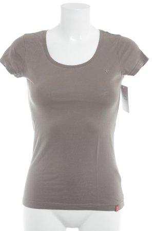 edc T-Shirt beige schlichter Stil