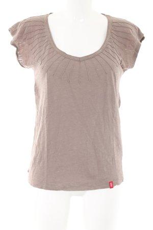edc T-Shirt braun meliert Casual-Look