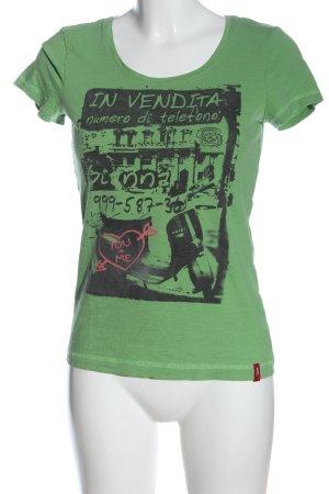 edc T-Shirt grün-schwarz meliert Casual-Look