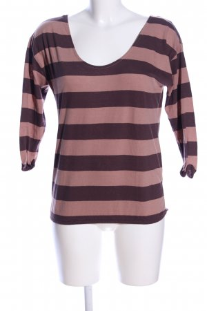 edc Boatneck Shirt brown-nude striped pattern casual look
