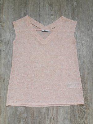 EDC T-Shirt Shirt XS Rose rosa Leinen